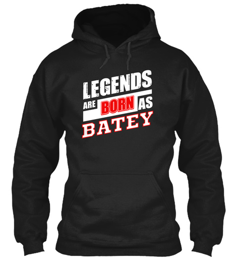 Batey Family Name Shirt Black T-Shirt Front