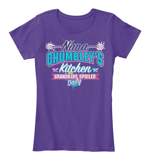 Nana Chumbley's Kitchen Purple T-Shirt Front