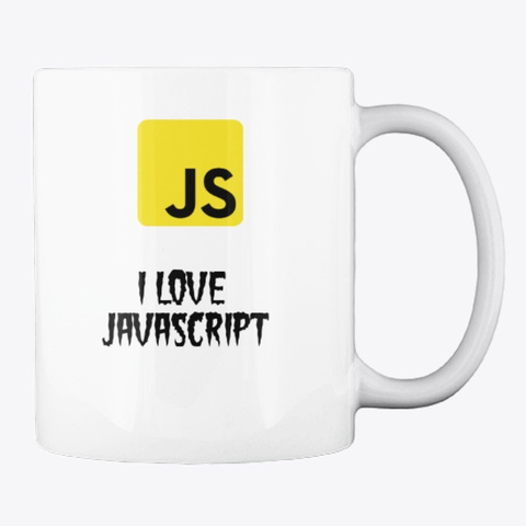 L  Love Java Script Mug White T-Shirt Back