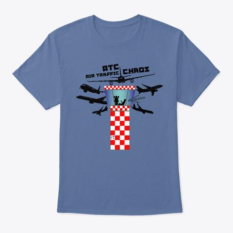 Atc Air Traffic Chaos Denim Blue T-Shirt Front