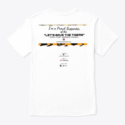 Tiger Stare White T-Shirt Back