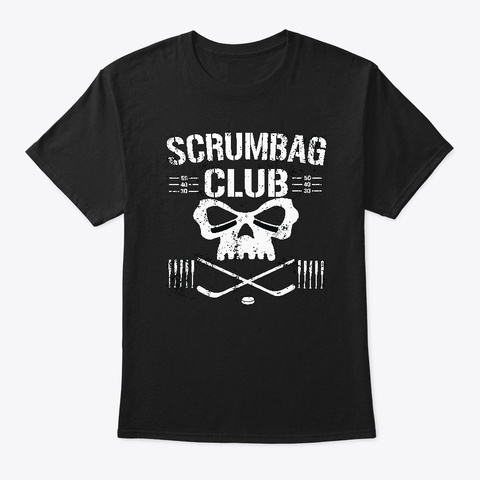 The Scrumbag Club Black T-Shirt Front