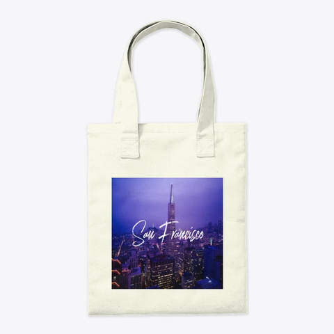 Downtown Sf Pyramid Building Tote Bag Natural T-Shirt Back