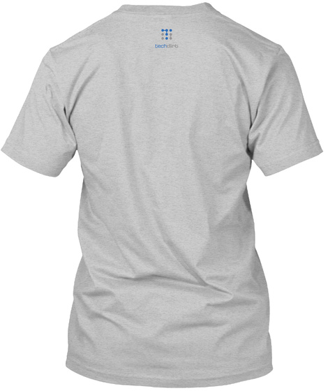 Copymouse, By Techdirt Light Heather Grey  T-Shirt Back
