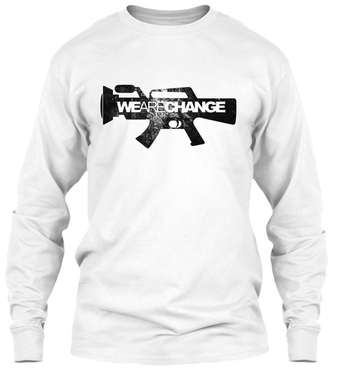 We Are Change White T-Shirt Front