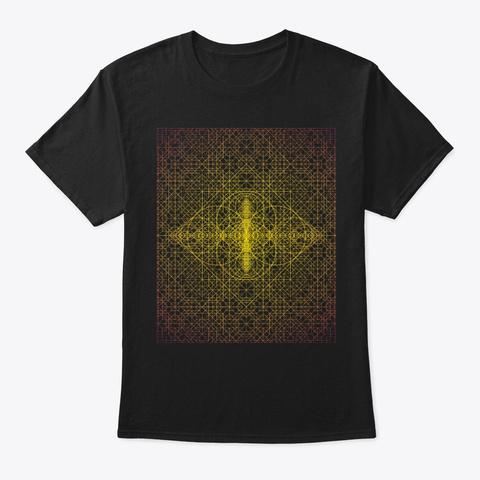 Sacred Geometry Ultra Vesica Black T-Shirt Front