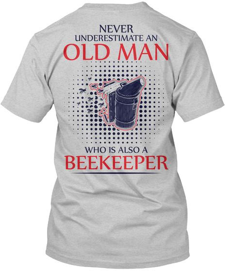 Awesome Beekeeper Shirt Light Steel T-Shirt Back