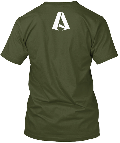 A Military Green T-Shirt Back