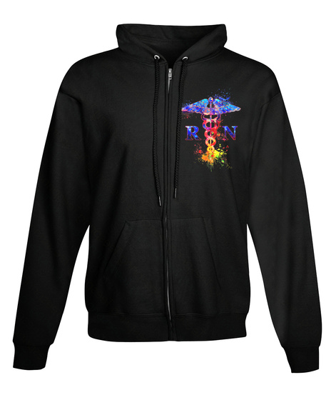 R N Black Sweatshirt Front