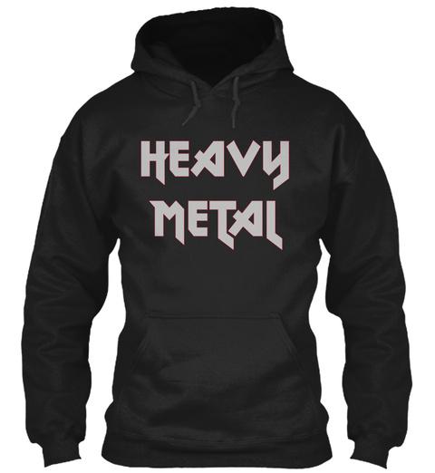 Heavy Metal Black T-Shirt Front