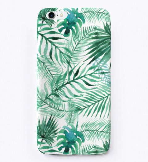 Tropical Palm Tree Leaves Pattern Standard T-Shirt Front