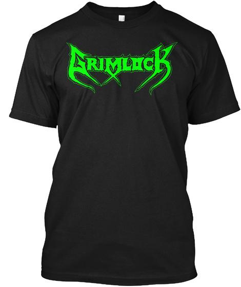 Grimlock   Grim Tales!!! Black T-Shirt Front