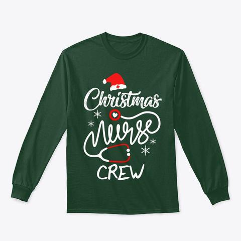 Novelty Nursing Tee Christmas Nurses Forest Green T-Shirt Front