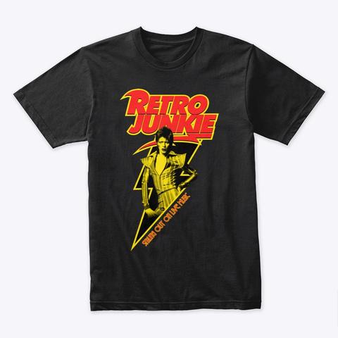 Retro Rebel  Black T-Shirt Front