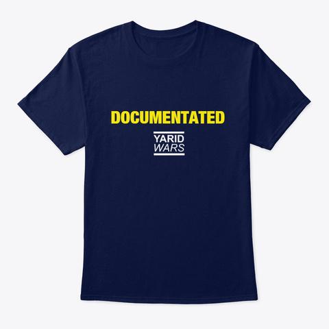Documenated T Shirt Navy T-Shirt Front