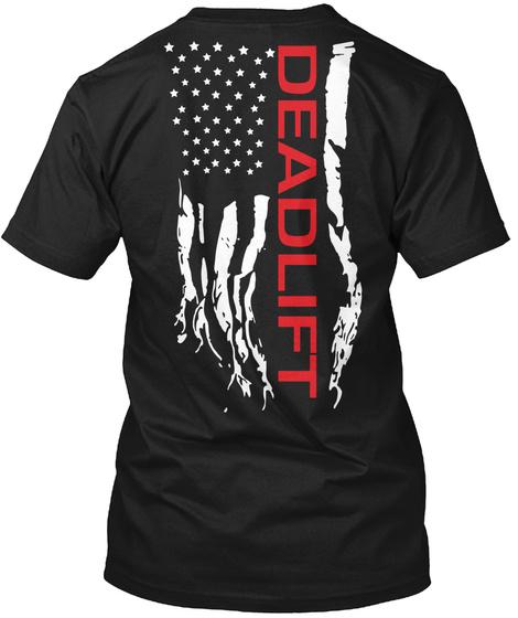 Deadlift Black T-Shirt Back