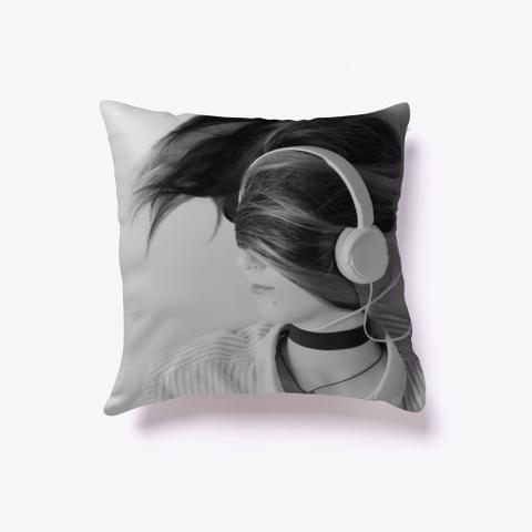 Indoor Pillow: Headphones Black Camiseta Front