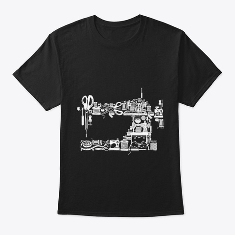 Sewing And Quilting Black T-Shirt Front