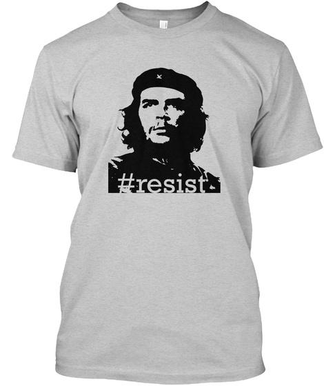 #Resist Che Guevara Shirt Light Steel T-Shirt Front