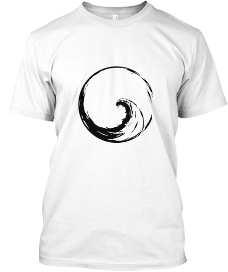 Peace Wave In Enso Circle White T-Shirt Front