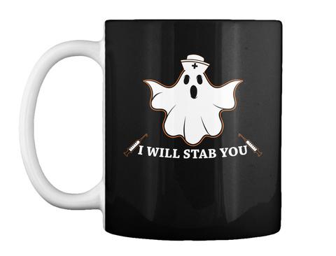 Nurse Halloween Mug  Black T-Shirt Front