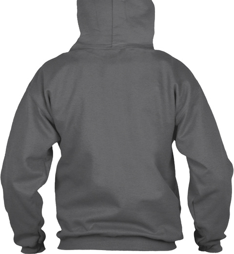 Dads Don't Babysit™ (Hoodie) Dark Heather Sweatshirt Back