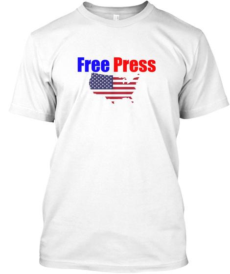 Free Press Usa White T-Shirt Front