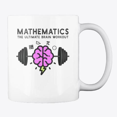 Math Brain Workout Mugs And Totes White T-Shirt Back