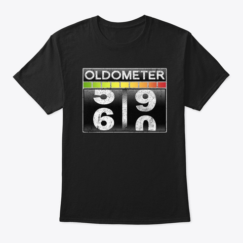 Oldometer 60 Awesome 60th Birthday Gift Black T-Shirt Front
