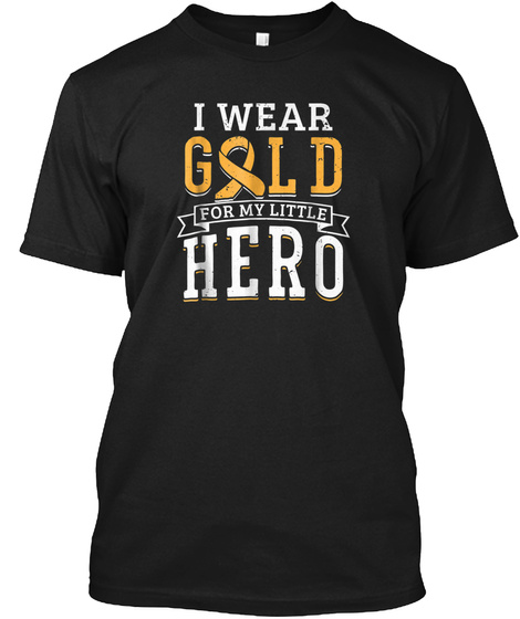 Childhood Cancer Shirt Awareness Survivo Black T-Shirt Front