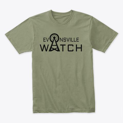 Evansville Watch Light Olive T-Shirt Front