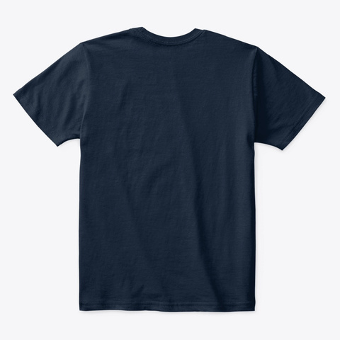 Three Triceratops Gruff New Navy T-Shirt Back