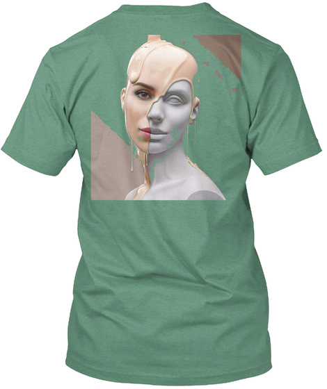 The Elegant Design  Green áo T-Shirt Back