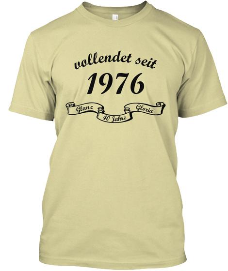 Vollendet Seit 1976 Glan'z 40 Jahve Glosia Sand T-Shirt Front