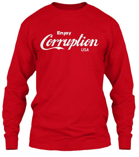 Enjoy Corruption Usa Red Maglietta Front