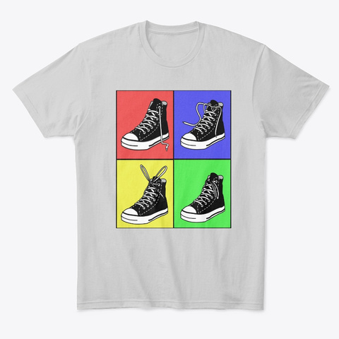 Physical Education Shoe Tying  Light Heather Grey  T-Shirt Front