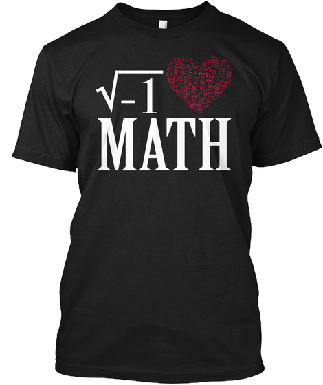 Math Black T-Shirt Front