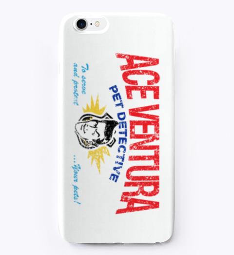 Classic Ace Ventura Phone Case White T-Shirt Front