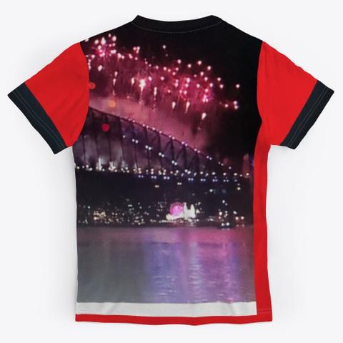 Sydney Australia New Year Eve 2020  Red T-Shirt Back