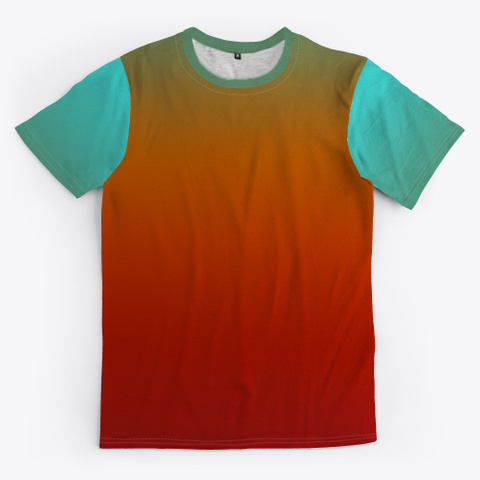 Abstract Color Gradient Minimal Art Standard T-Shirt Front