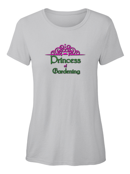 Princess Of Gardening Ellesson Sport Grey T-Shirt Front