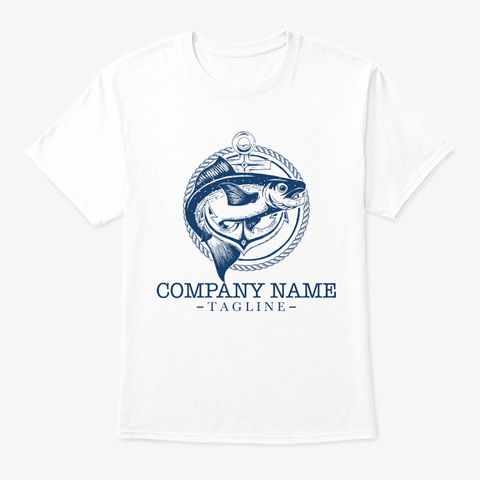 Fish Shirt White T-Shirt Front