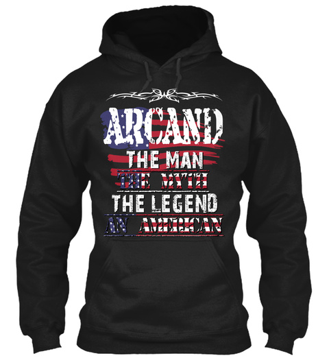 Arcand  Black T-Shirt Front