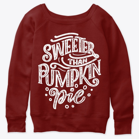 Thanksgiving Pumpkin Sweeter Pie Dark Red Triblend T-Shirt Front