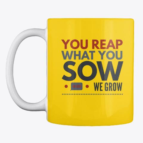 Gardening Slogan Mug, Cup, China,Drink Lemon Yellow T-Shirt Front