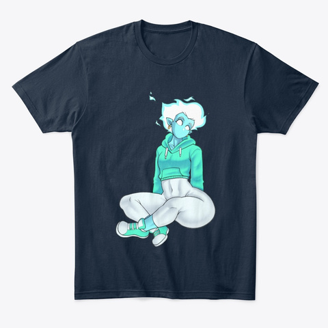 Flare Tranquil New Navy T-Shirt Front