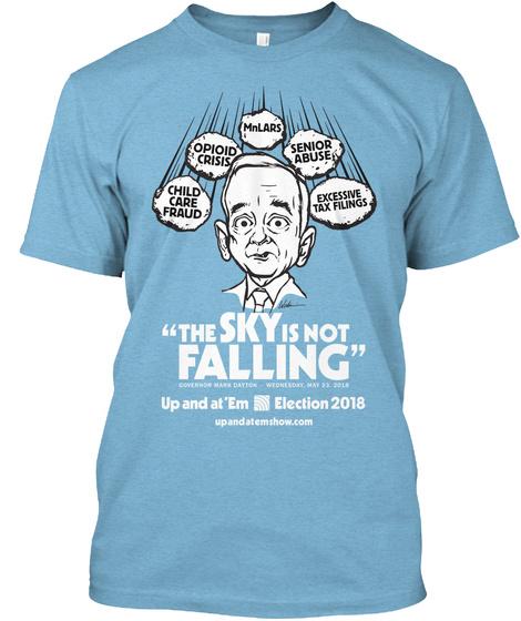 May 2018: Dayton Sky Falling Shirt Aqua T-Shirt Front