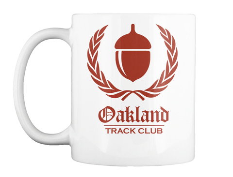 Oakland Track Club White T-Shirt Front