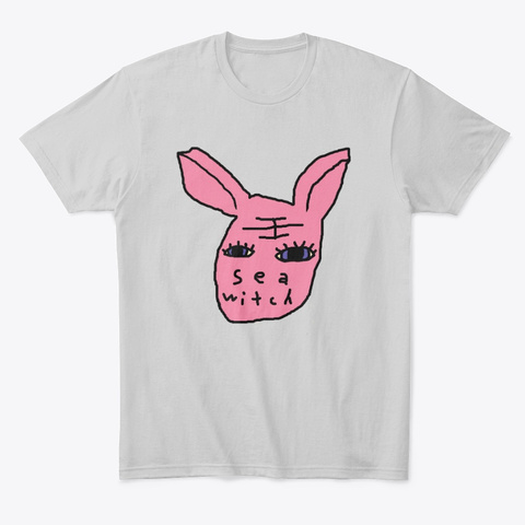 Sea Witch Bunny Light Heather Grey  T-Shirt Front