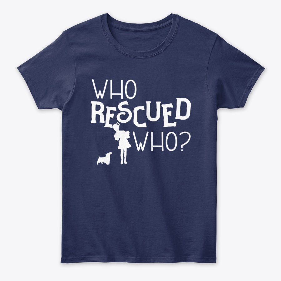 Who Rescued Who Dog Paw Rescuer Unisex Tshirt